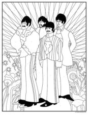 Beatles Yellow Submarine colouring in