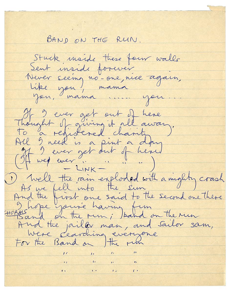 Band on the Run Paul McCartney