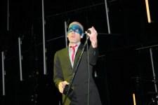 Michael Stipe of REM 3 April 2005 at Rod Laver Arena Melbourne photo by Ros O'Gorman