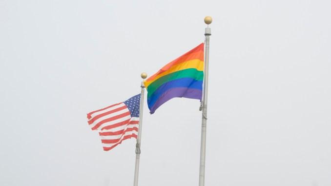 Gay Pride American USA Flag