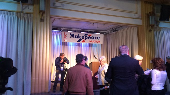 Mary Lou Makepeace Mayoral Announcement November 2014