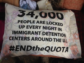 #EndTheQuota Pillow