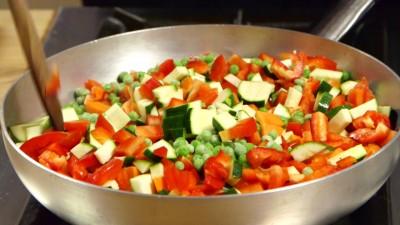 sformatini di verdure miste preparazione