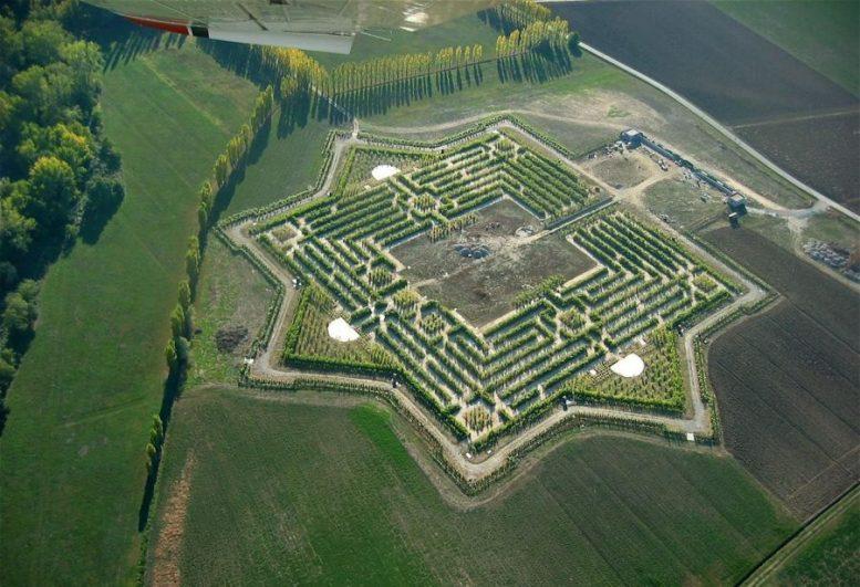 Labirinto della Masone Fontanellato Parma Franco Maria Ricci dall'alto