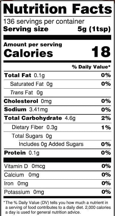 tabella nutrizionali