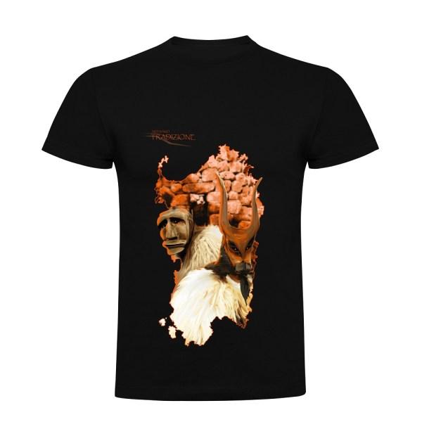 t-shirt Sardegna Boes e Merdules uomo nera