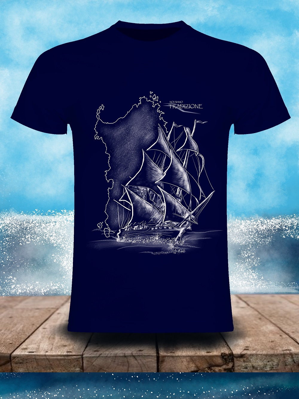 t-shirt barca  sardegna
