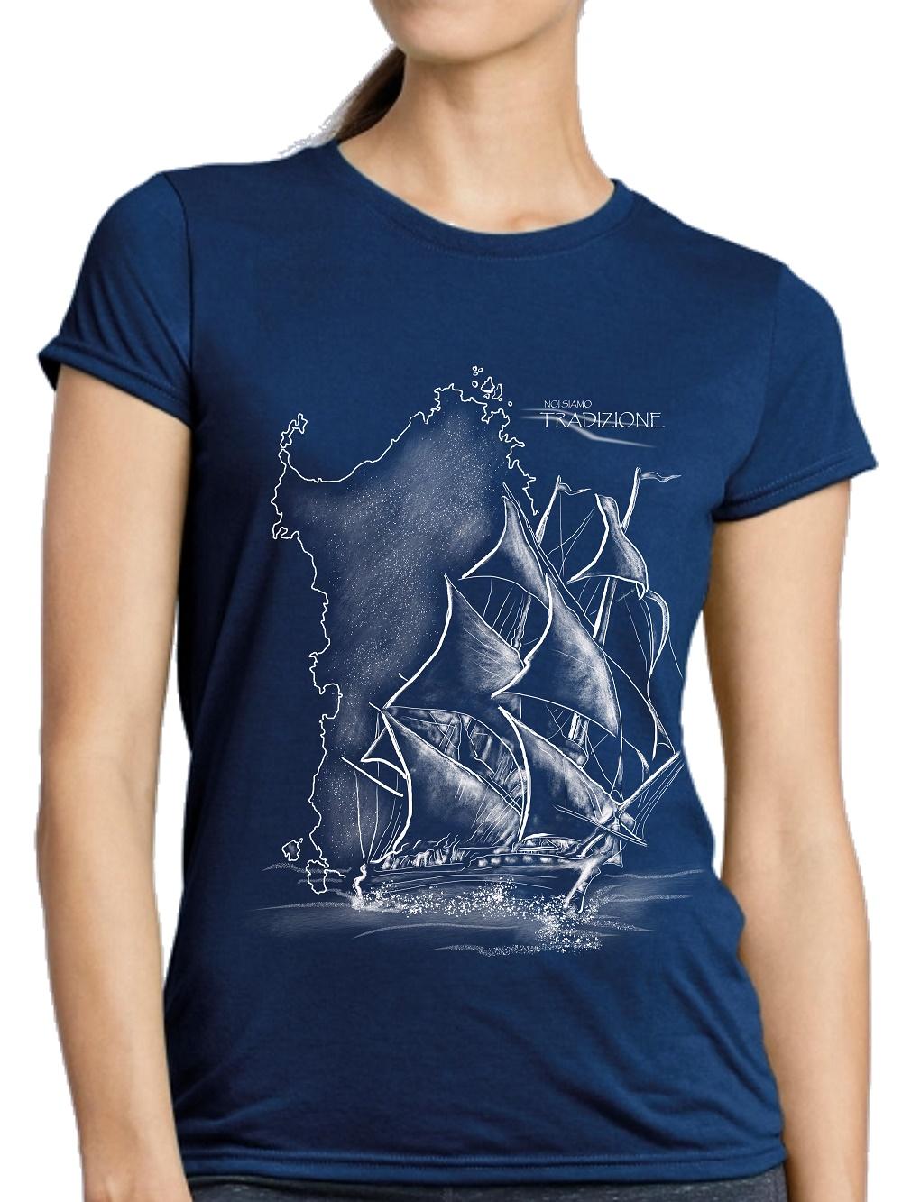 t-shirt donna Sardegna Veliero