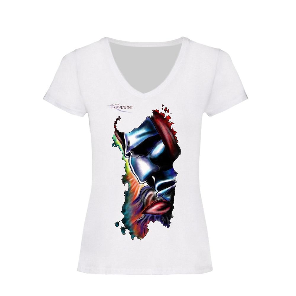 maglietta bianca donna mamuthones 3.0 colori