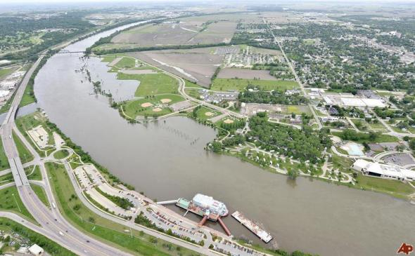 US Army Corps of Engineers in collusion with George Soros to buy / hold devalued flooded mid-American farmland.