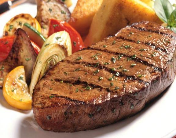 اطباق رئيسيه لرمضان -ستيك اللحم بصوص البرتقال والثوم