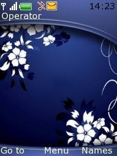 Тема Темно-синяя абстракция (Dark Blue Abstract ...