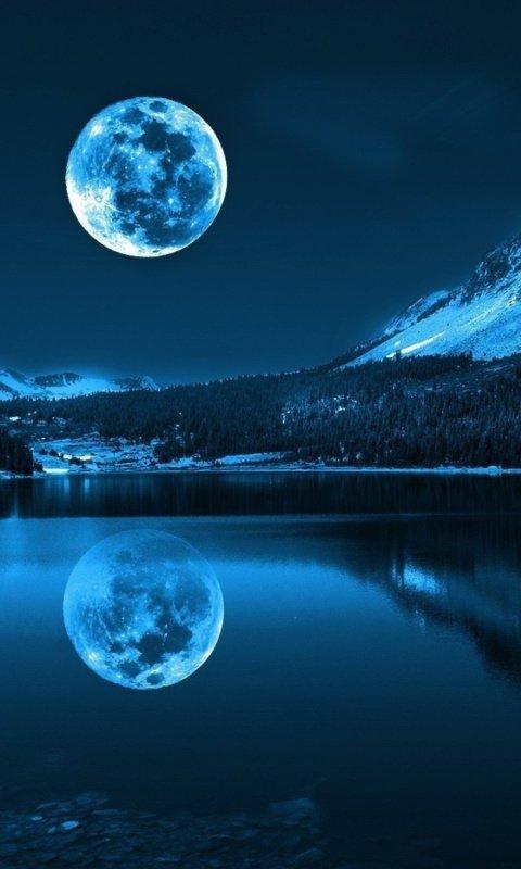 Картинка полнолуние (full moon) 480x800 / Скачать красивые ...