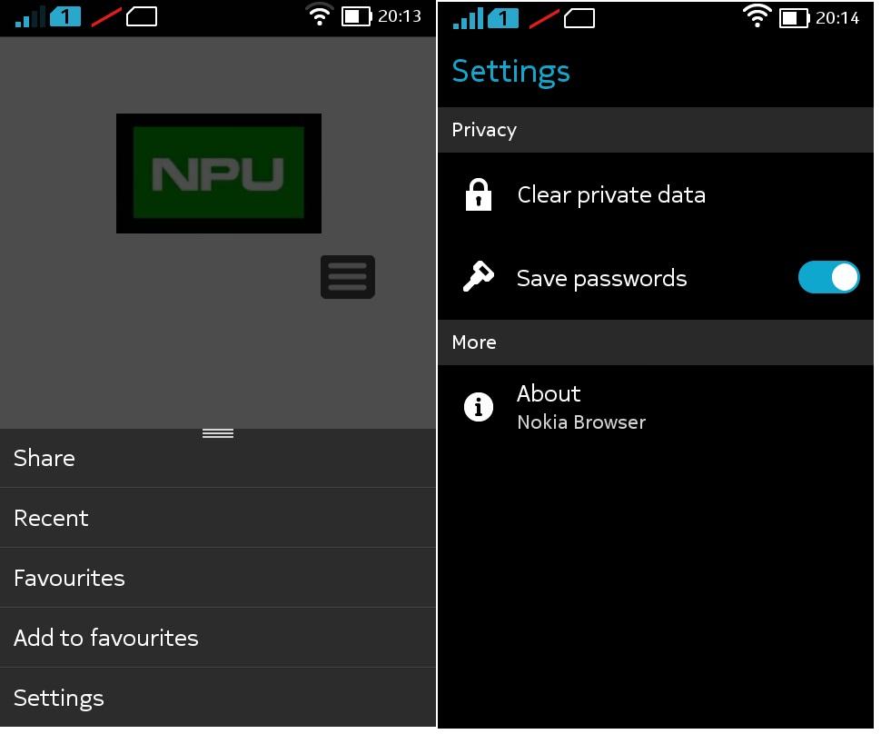 Nokia x browser