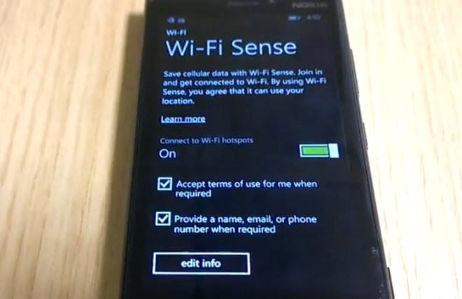 WP8.1 sense