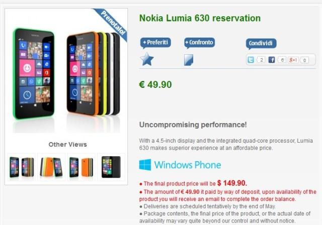 lumia 630 Italy