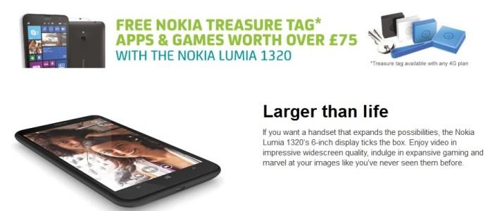 Lumia 1320 UK