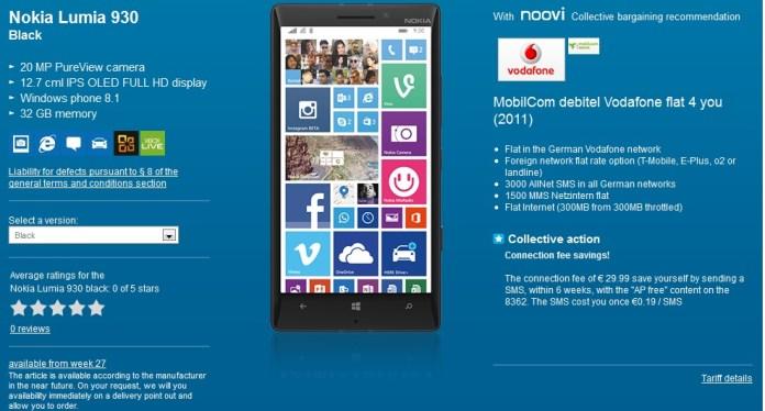 Lumia 930 germany