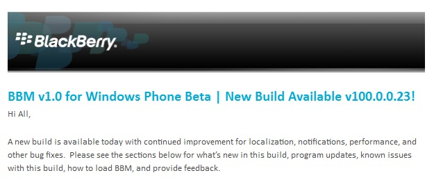 BBM update