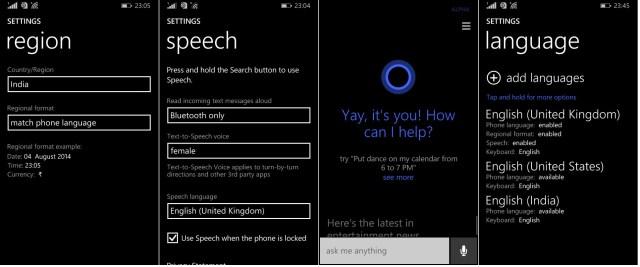 Cortana India