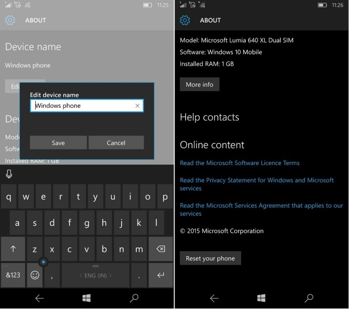 Bluetooth name Windows 10 Mobile
