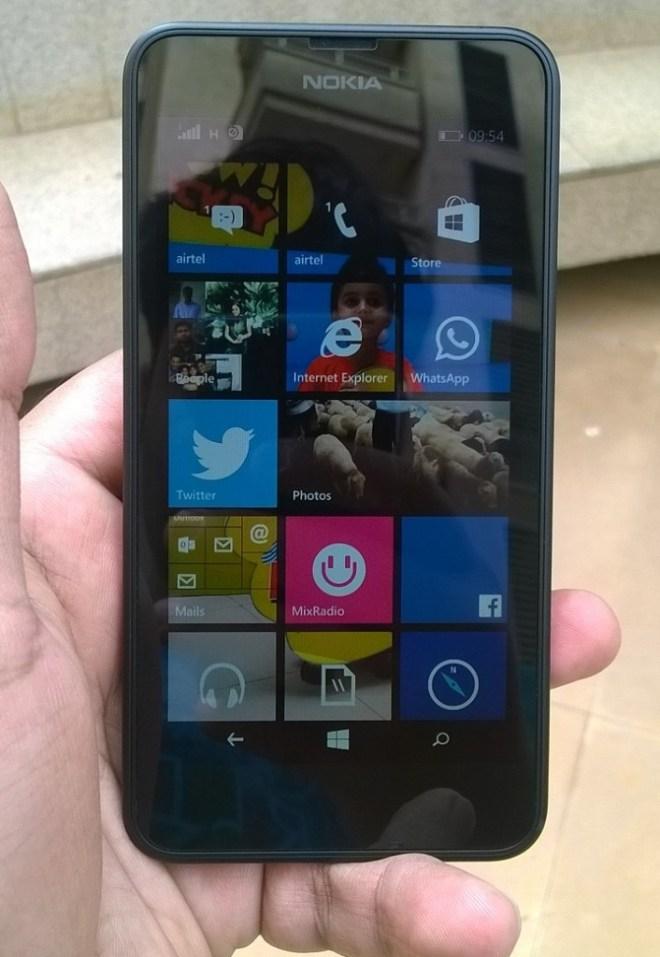 Lumia 639 outdoors