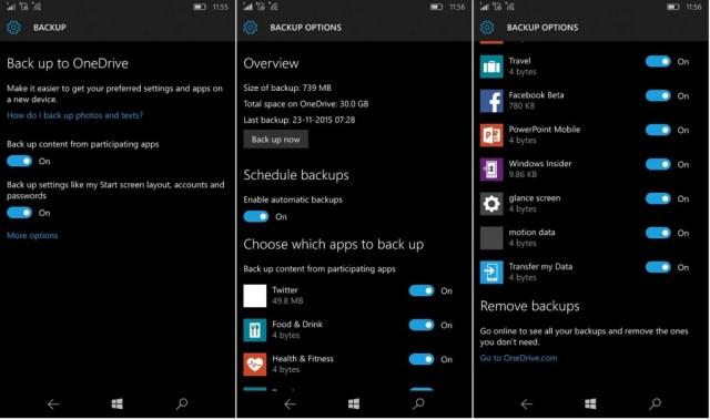 Windows 10 Mobile Backup 1