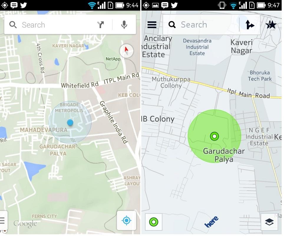 Google vs HERE
