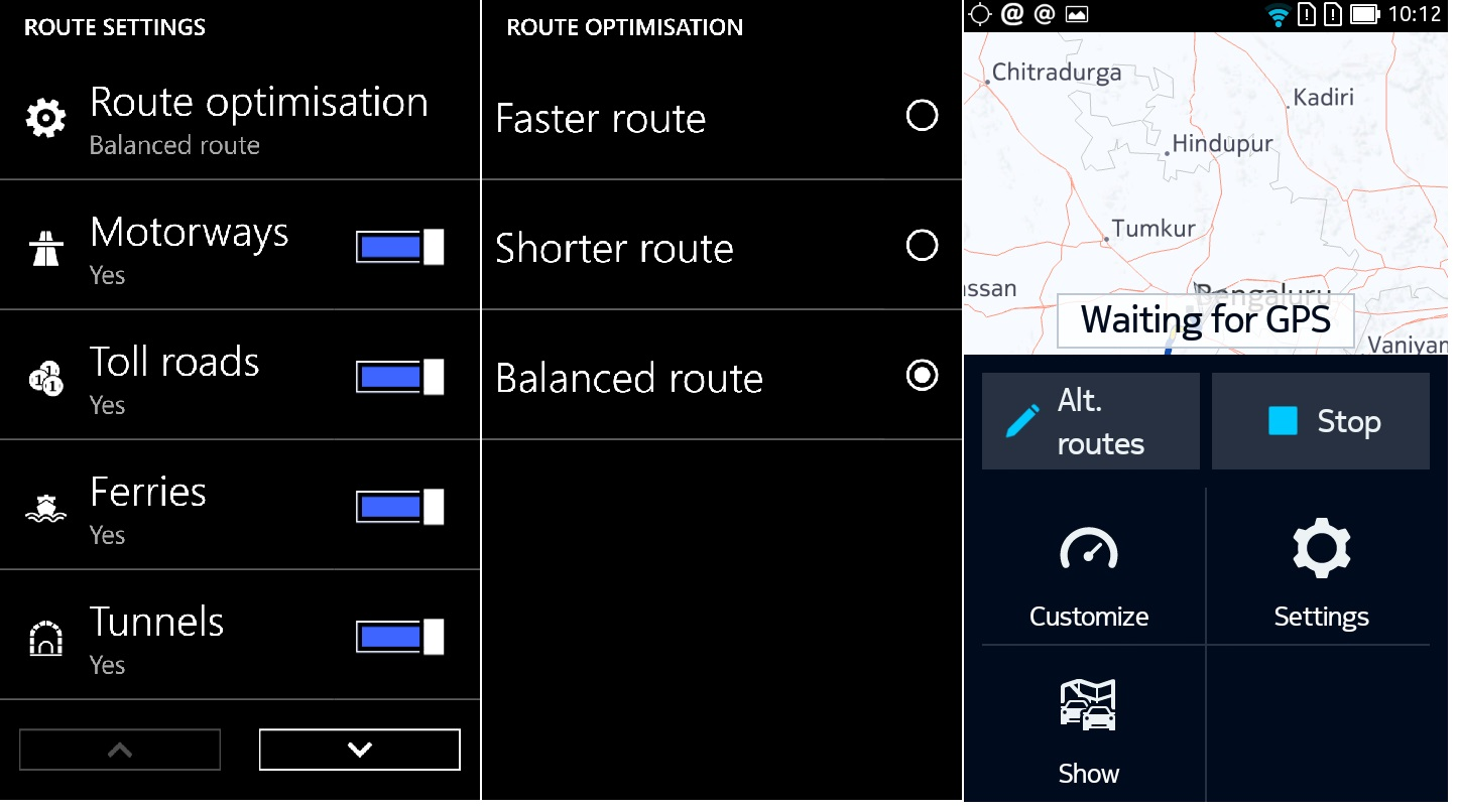 HERE android wp routes