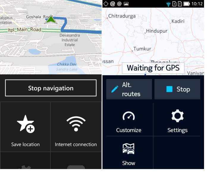 here android wp navigation