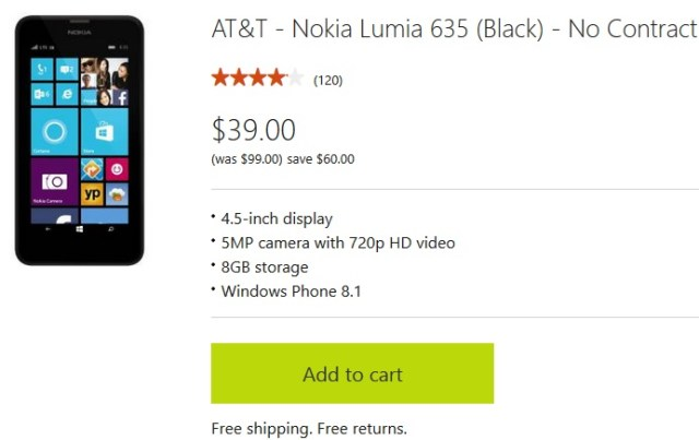 Lumia 635 US deal