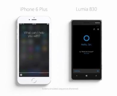 Siri vs Cortana