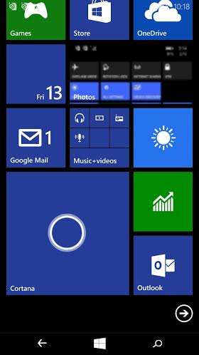 Cortana Tile