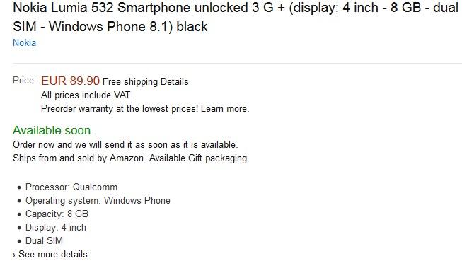 Lumia 532 France