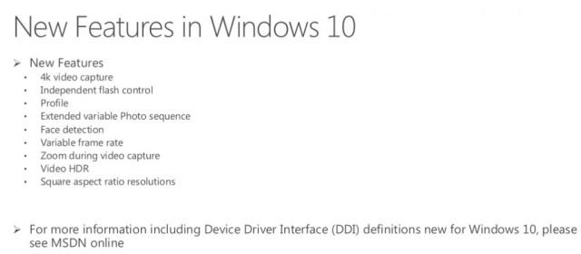 Windows 10 camera