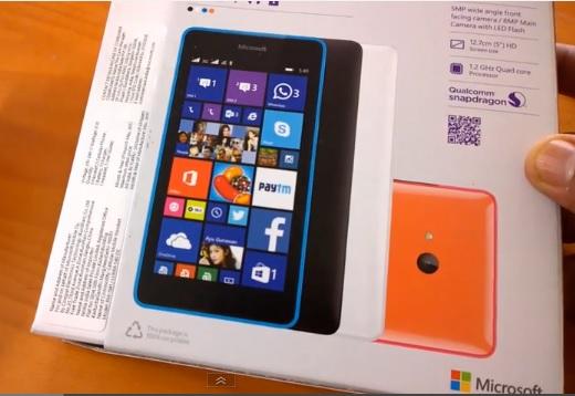 Lumia 540 unbox