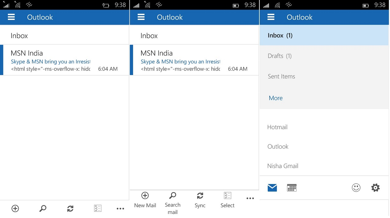 Outlook Mail & Calendar update for Build 10080 brings UI ...