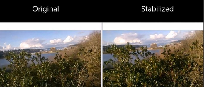Windows 10 video stabilization