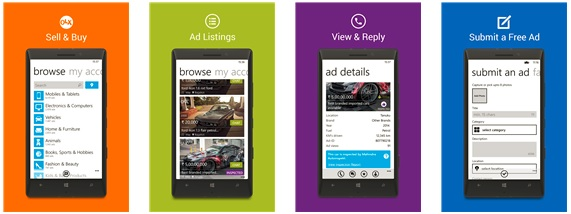 Old goes off, New comes in - OLX Windows Phone Application