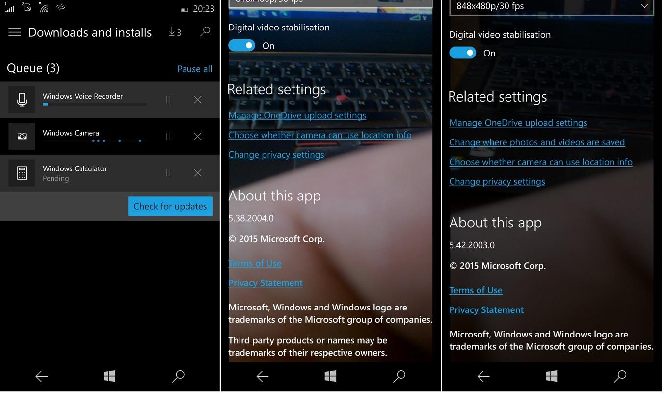 Windows 10 Mobile Camera, Voice Recorder & Calculator apps ...