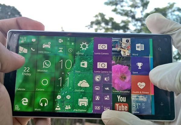 Windows 10 Mobile landscape