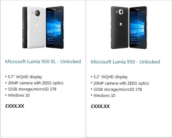 Lumia 950 MS store