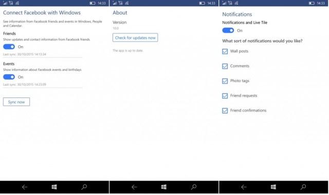 Facebook Beta update