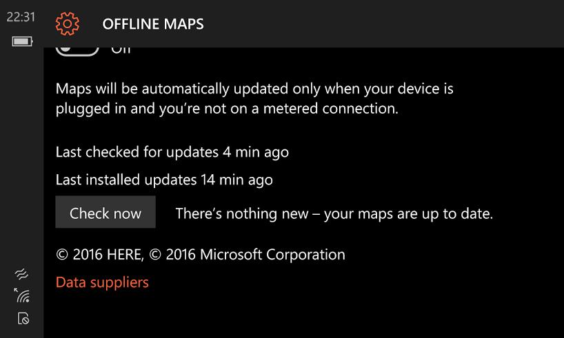 Here Maps Data update