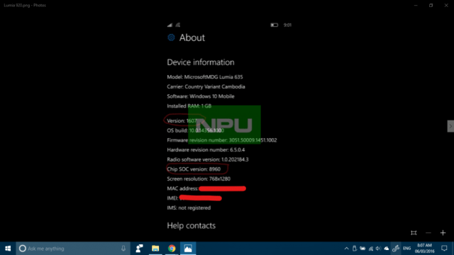 Build 14356 Lumia 920