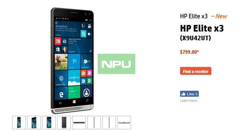 HP Elite X3 US Price