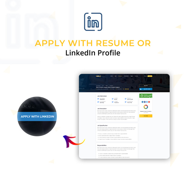 apply with link in