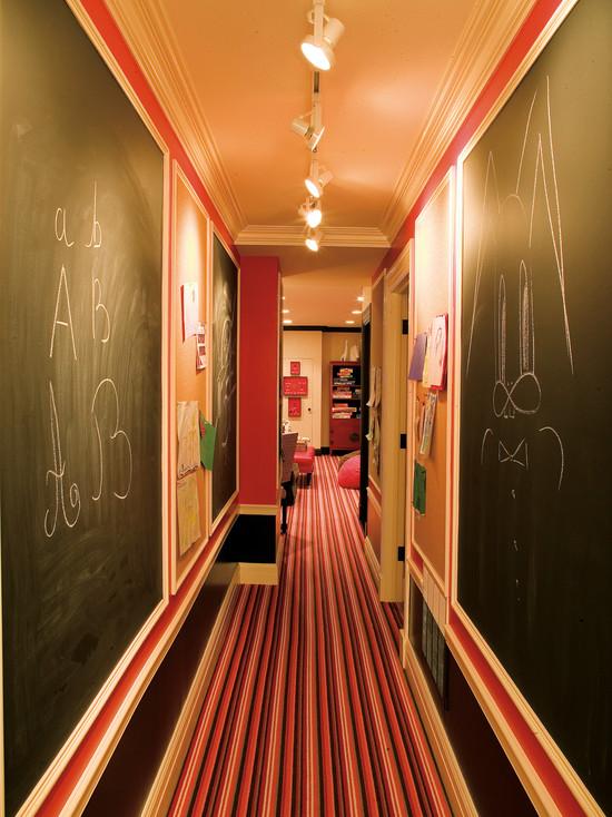 Basement Hallway With Chalk Walls (Chicago)