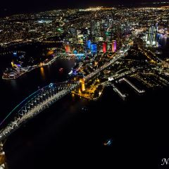 Aerial view of Vivid Sydney 2016 (AA4639)