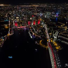 Aerial view of Vivid Sydney 2016 (AA5308)